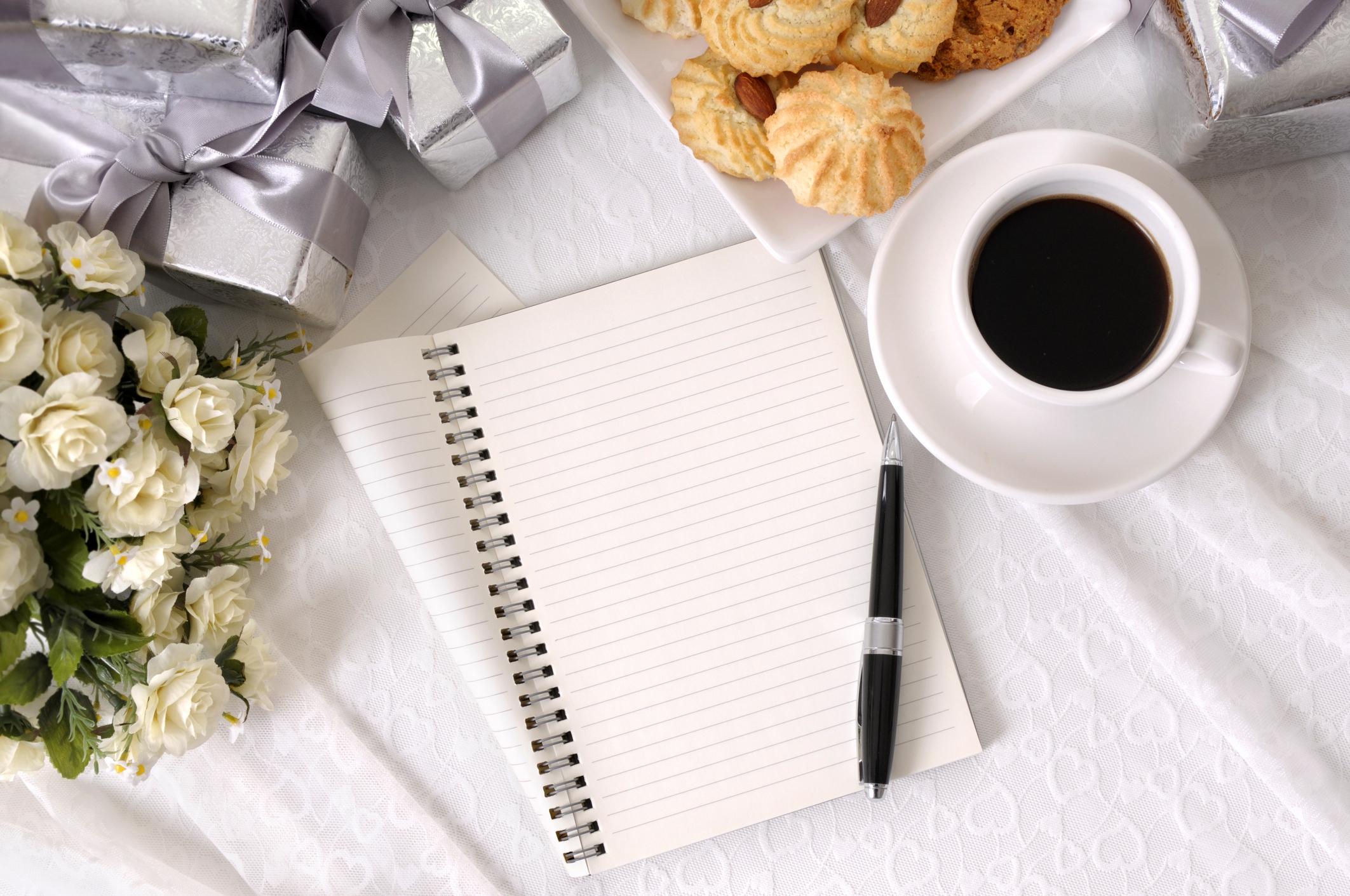 Gästeliste für die Hochzeit schreiben