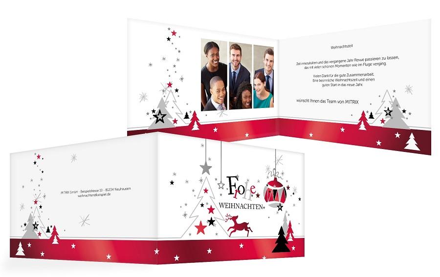Weihnachtskarte mit geschäftlichem Weihnachtsgruß