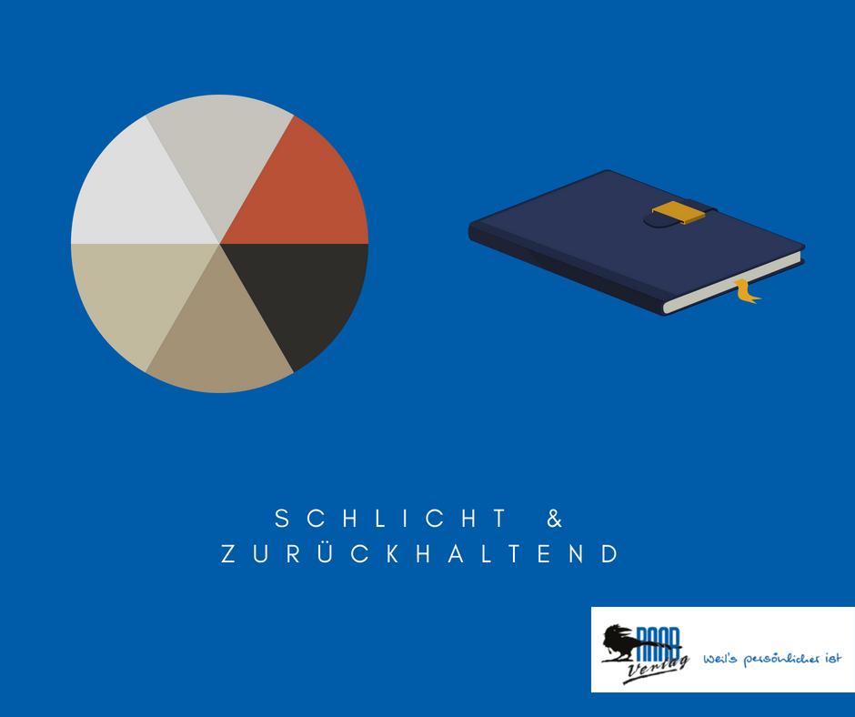 : Illustrierte Farbpalette und Buchkalender