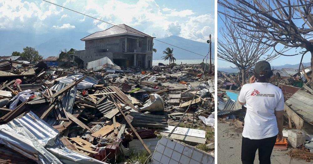 Zerstörungen nach Erdbeben auf Sulawesi 2018