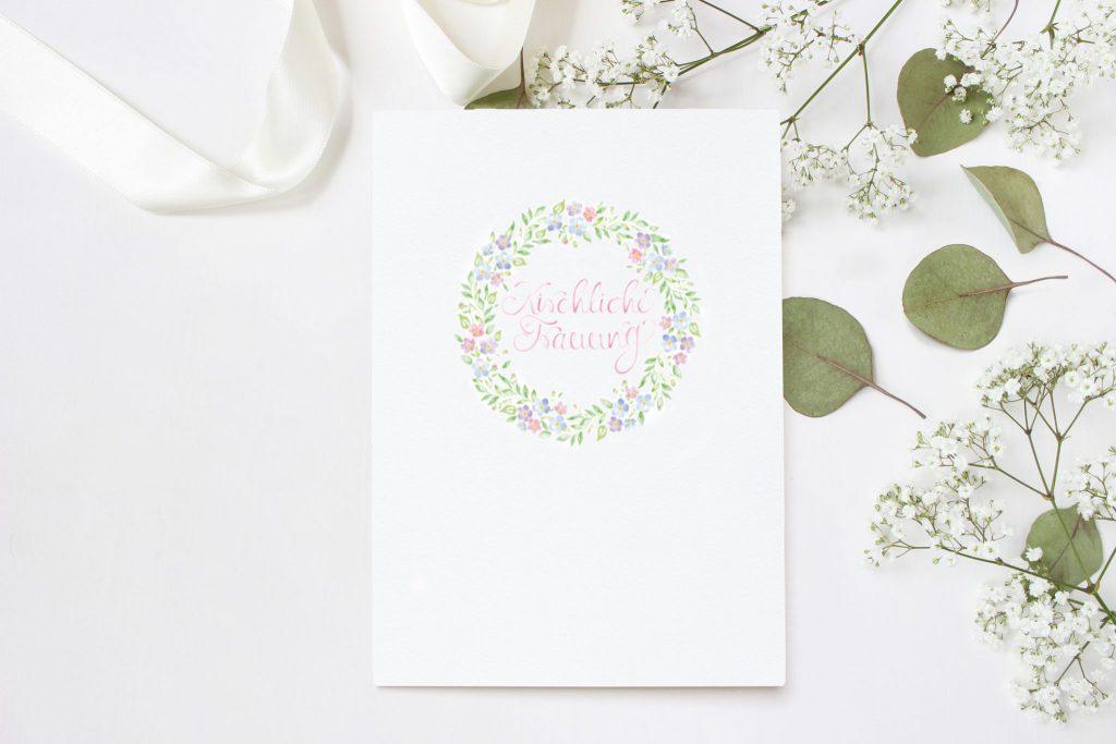 Kirchenheft für Hochzeit mit Programm als Inhalt