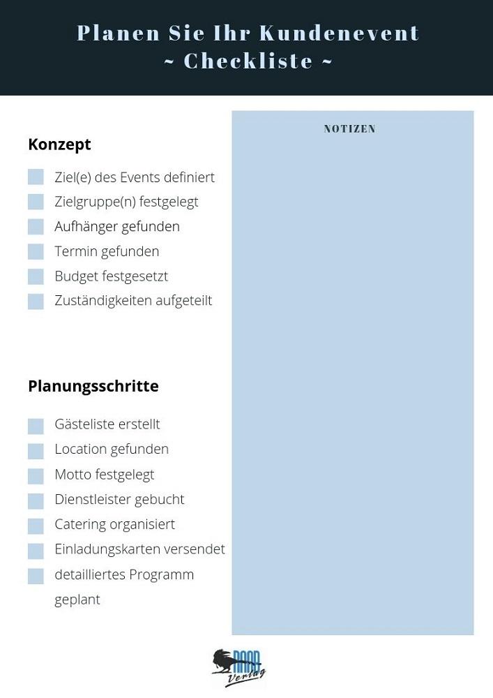 Checkliste zum Kundenevent organisieren