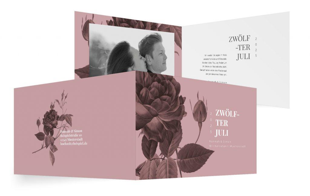 Beispiel-Idee für eine Hochzeitseinladung