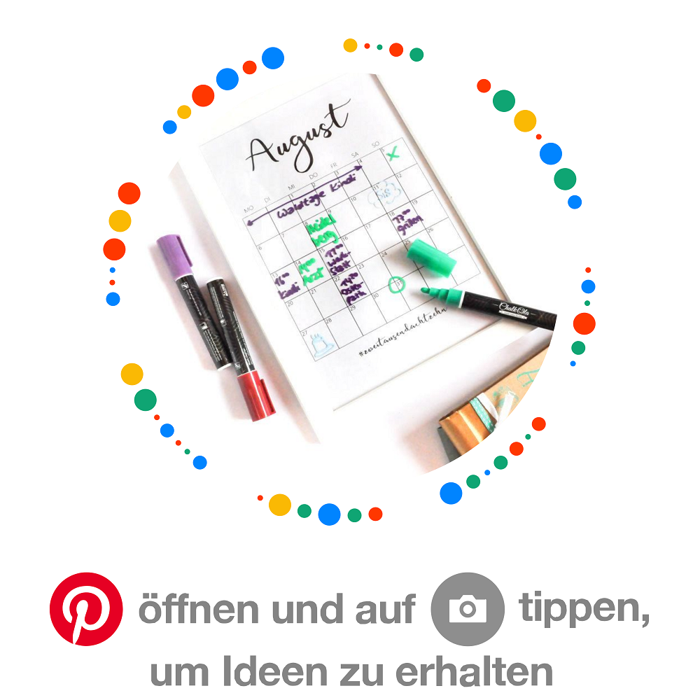 Pinterest-Boards Kalender führen