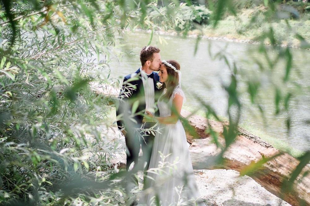 Hochzeitsfoto beim Brautpaarshooting