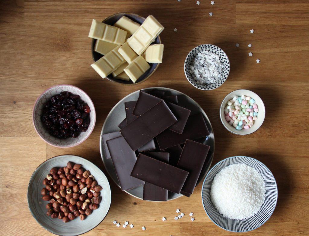 Zutaten für Weihnachtsschokolade