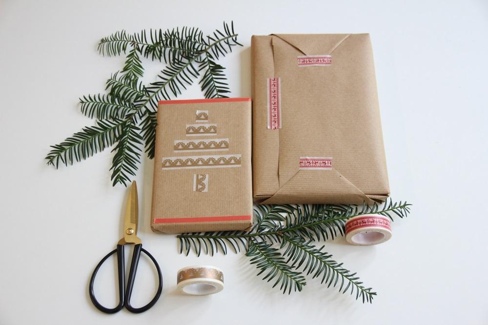 Weihnachtsgeschenke verpacken mit Washi Tape