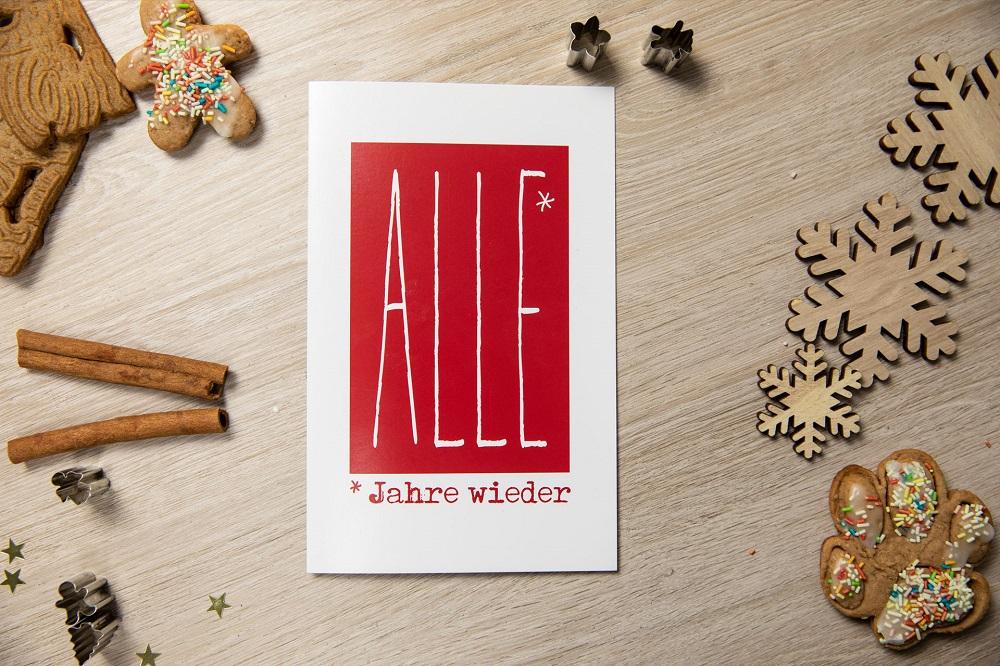 Typographie als moderner Weihnachtsgruß