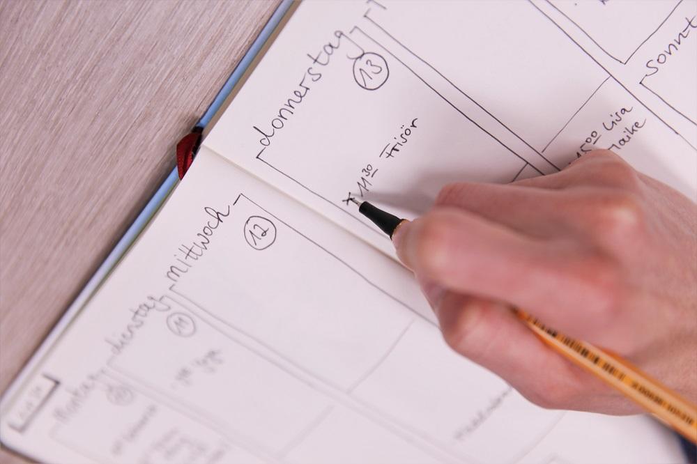 Aufgaben planen und abhaken im Bullet Journal