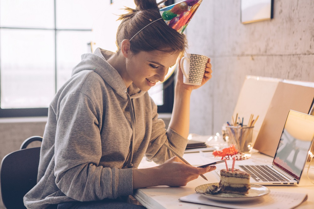 Geburtstag feiern im Home-Office