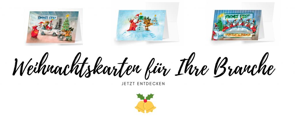 Weihnachtskarten Handwerk und Dienstleister