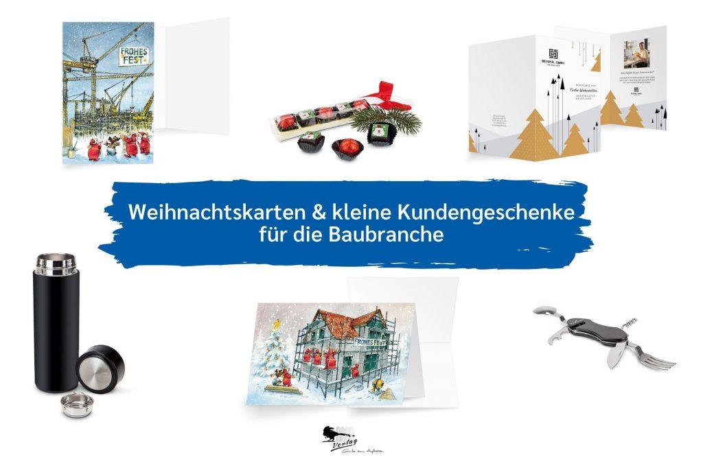 Kundengeschenke und Weihnachtskarten für die Baubranche