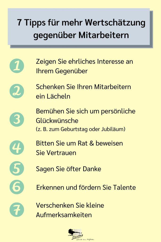 Mitarbeiter wertschätzen: 7 Tipps