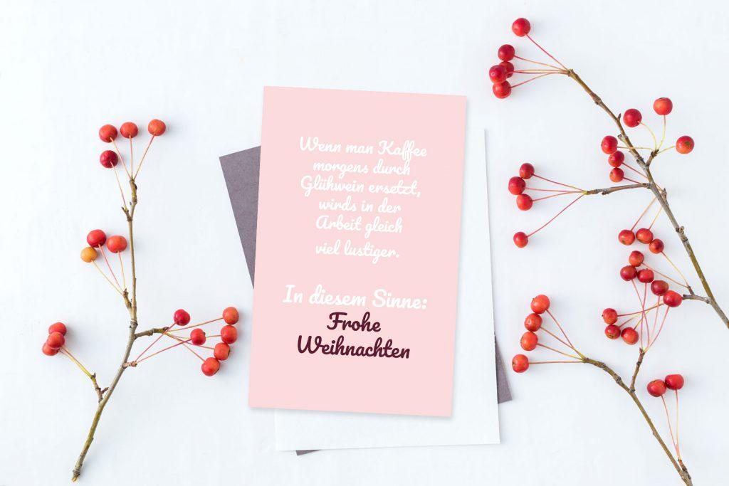 Weihnachtskarte selbst gestalten Ideen: Typografiekarte.