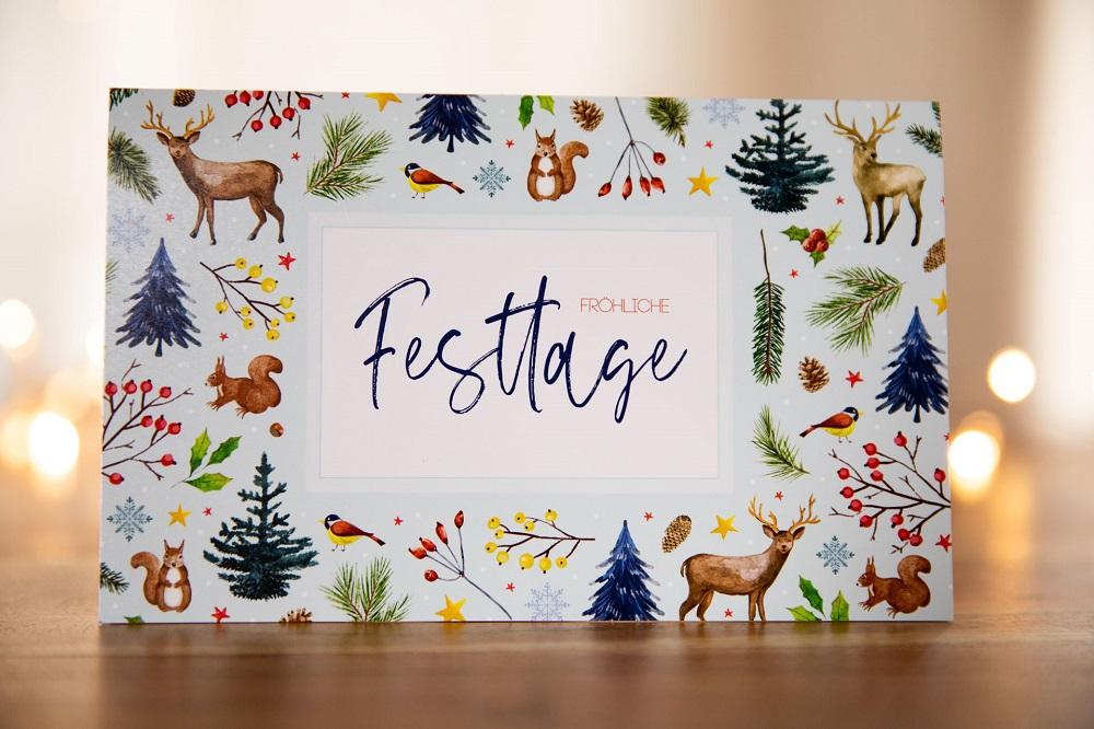 Danksagung zu Weihnachten per Karte