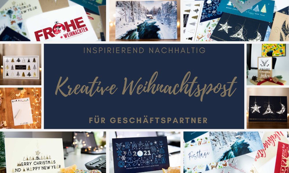 Kreative Weihnachtskarten für Geschäftspartner gestalten