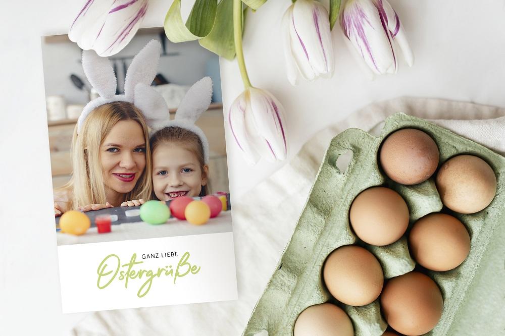 Osterkarte mit eigenem Foto