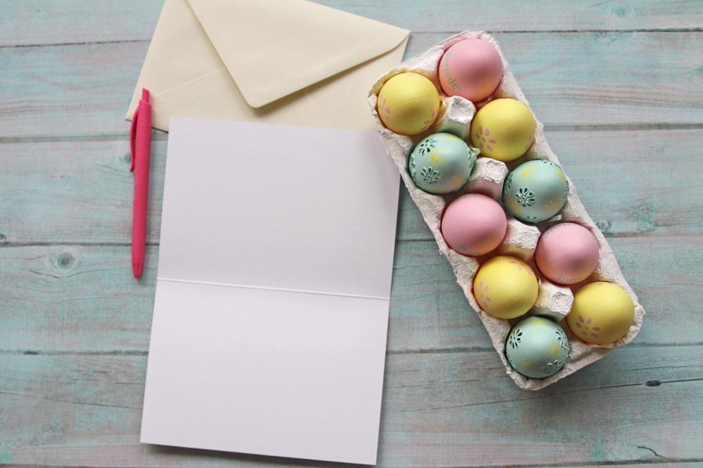 Ostergrüße: Text auf Osterkarte schreiben