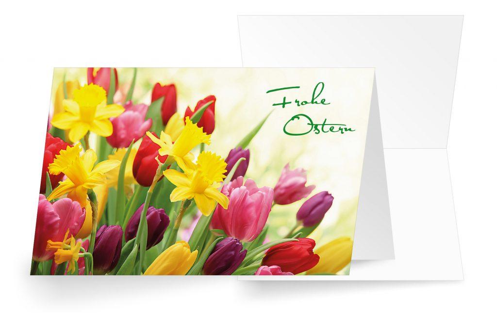Osterkarte mit Blumenmotiv verschicken
