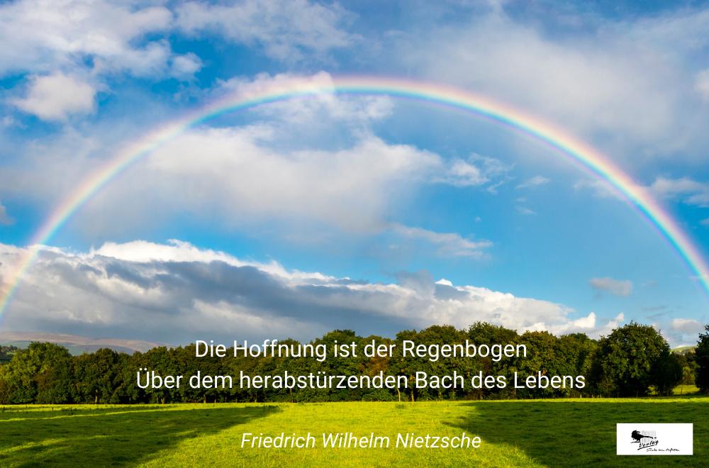 Hoffnung ist wie ein Regenbogen - Trauerspruch