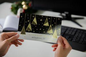 Weihnachtskarte für Geschäftskunden