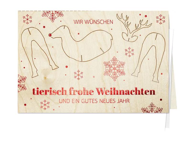 Tierisch frohe Weihnachten - Weihnachtskarte