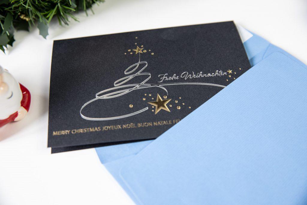 Weihnachtskarte und Kuvert
