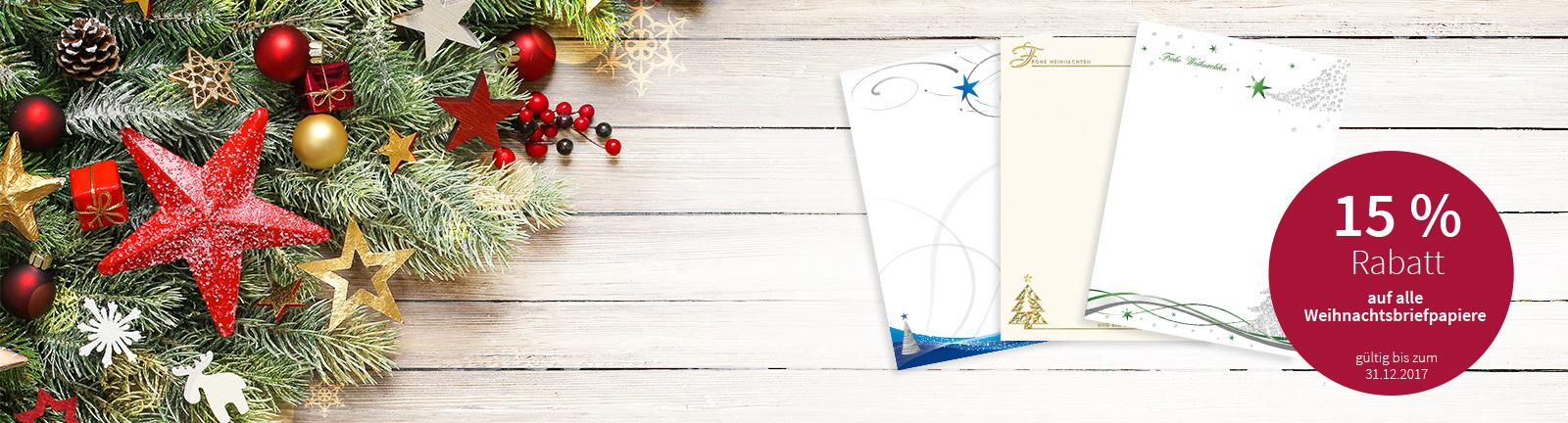 Briefpapier Weihnachten