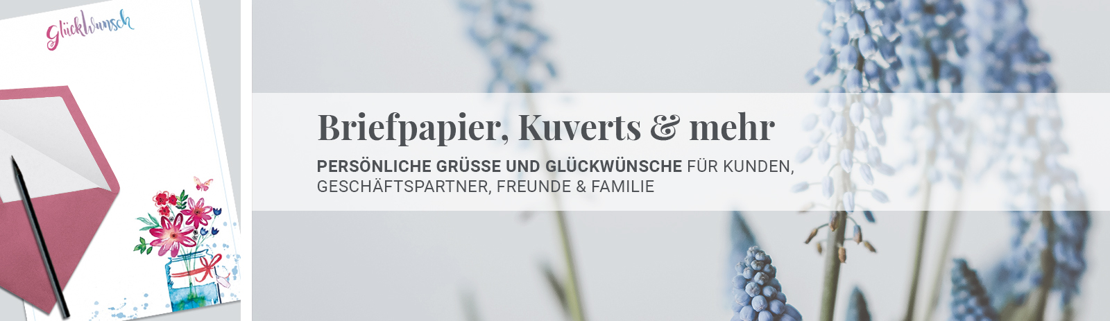 Briefpapier, Kuverts & mehr