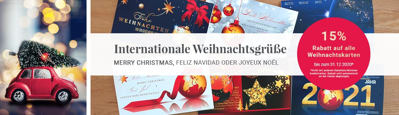 Internationale Weihnachtsgrüße