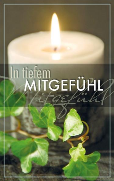 Trauerkarte mit Kerzenmotiv