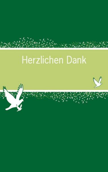 Firmung: Danksagungskarte mit Tauben