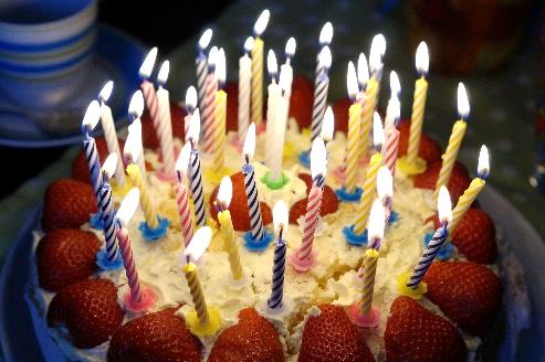Torte mit Kerzen