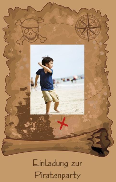 Karte - Schatzkarte mit Foto und Text