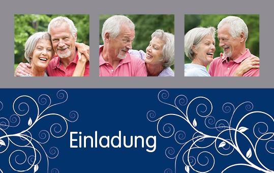 Einladungskarte mit Bildern eines Paars