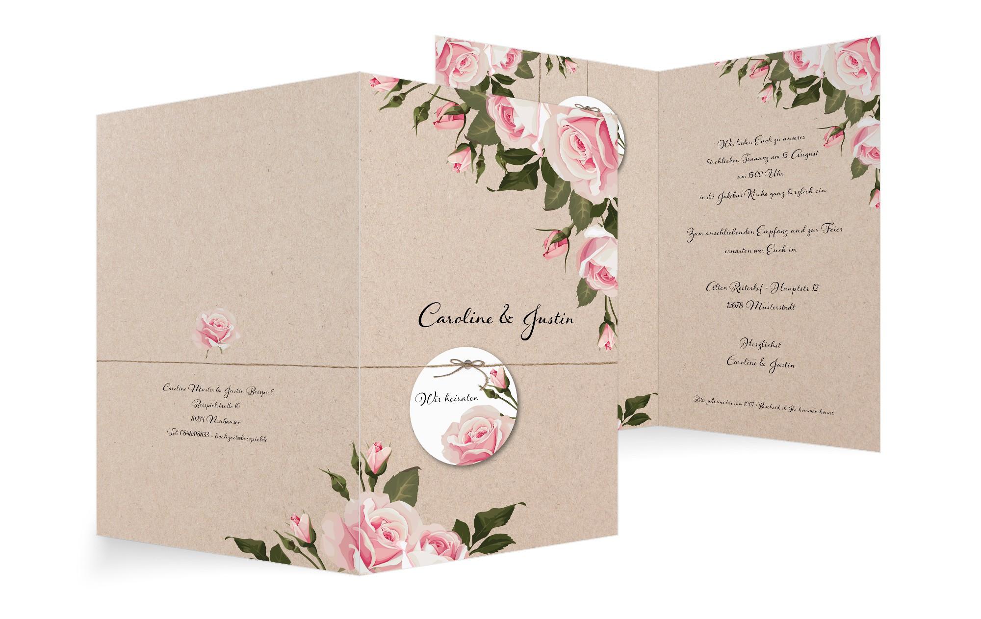 Einladung zur Hochzeit
