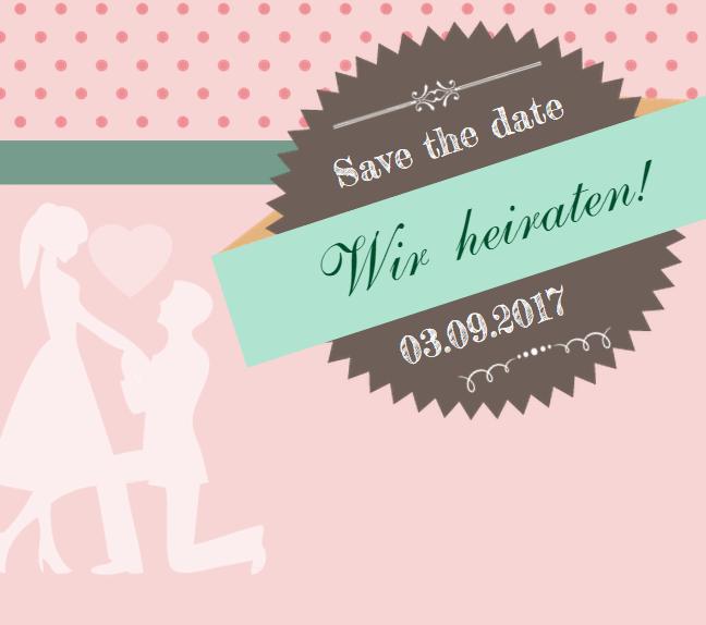 Einladungskarte - Save the Date