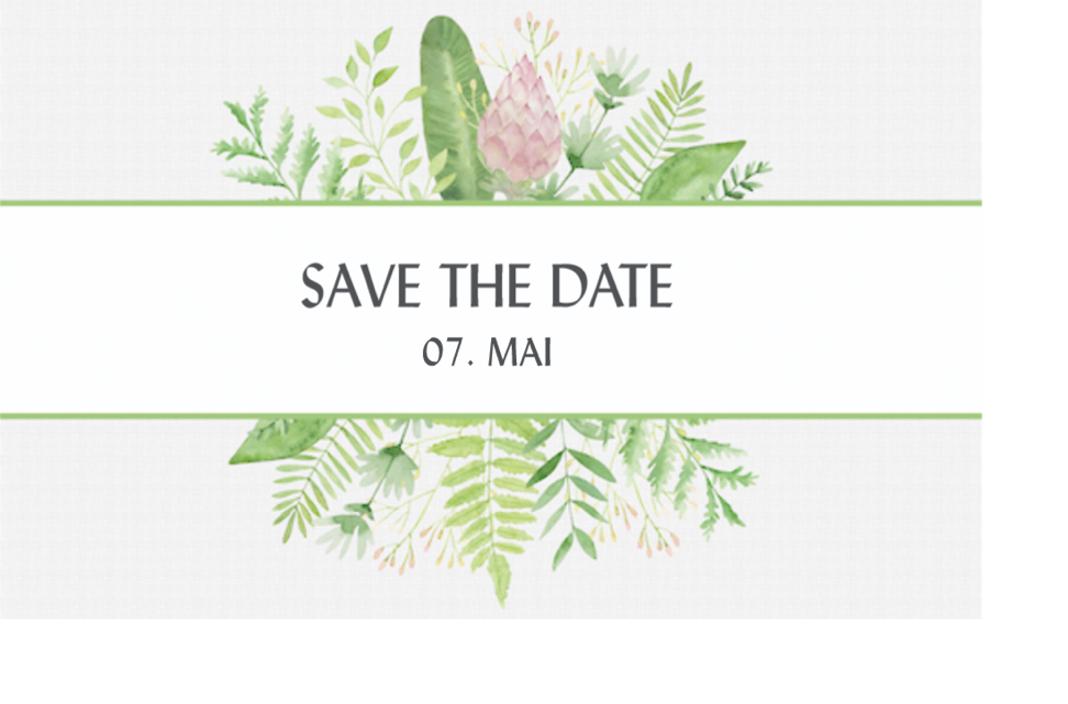 Save-the-Date-Karte von RAAB-Verlag
