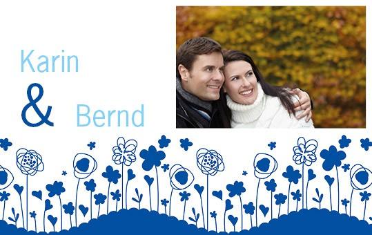 Einladungskarte mit Name und Foto