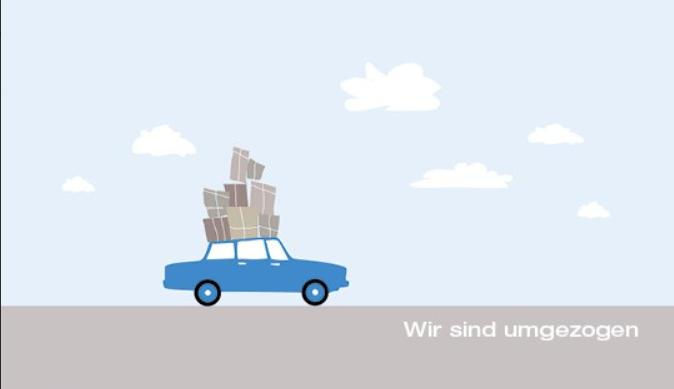 Karte - Auto mit Gepäck auf dem Dach