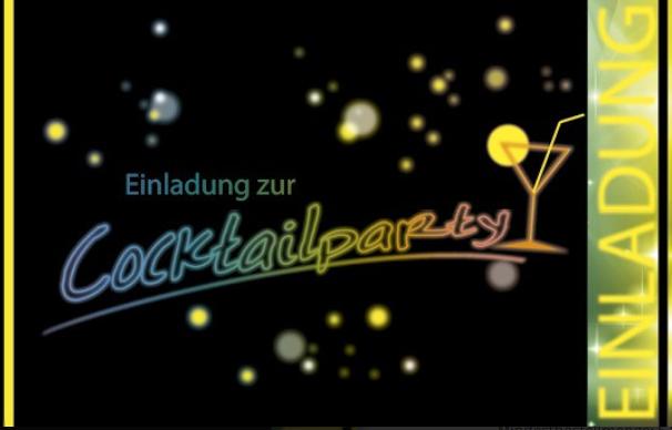 Einladungskarte zur Cocktailparty
