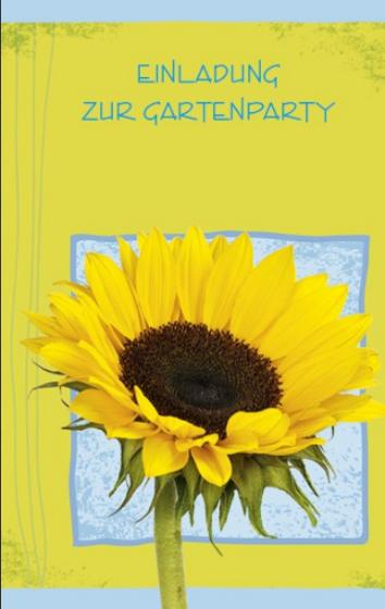 Karte mit Text und Sonnenblume