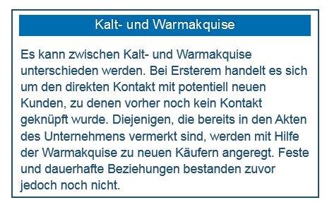 """Infotext zum Thema """"Kalt- und Warmakquise"""""""