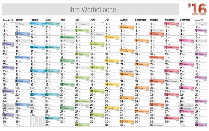 Jahresplaner im Plakatformat
