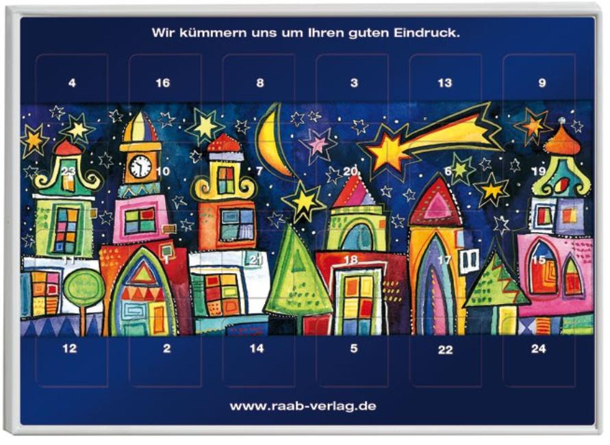 Kalender mit Bild - gemalte Stadt