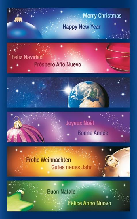 Weihnachtsgrüße in verschiedenen Sprachen