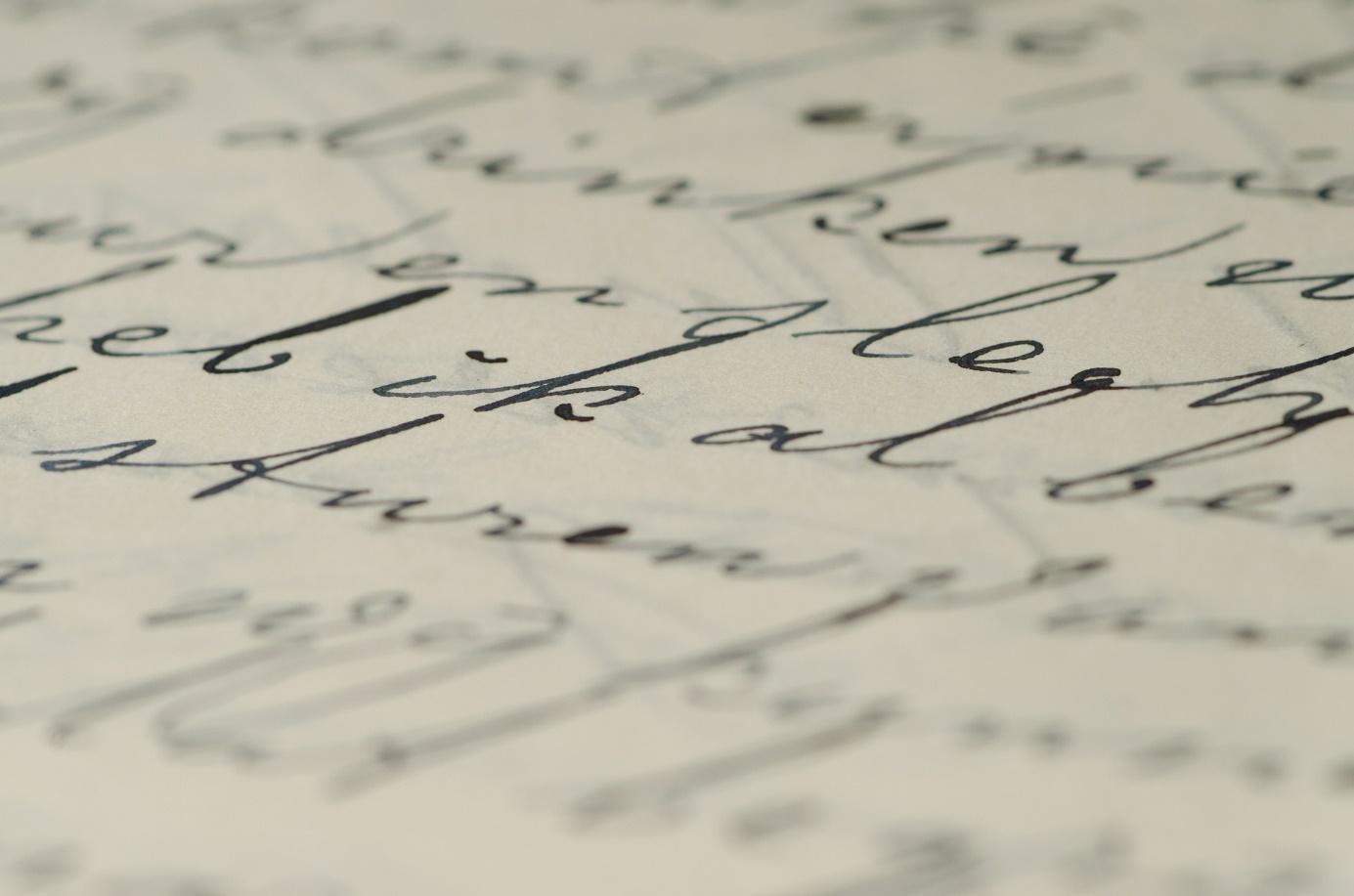 Brief mit Kaligraphie